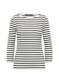 Ralph Lauren Striped Lace-Up-Sleeve Top