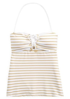 Ralph Lauren Striped Lace-Up Tankini