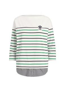 Ralph Lauren Striped Layered Cotton Top