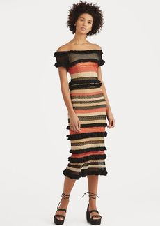 Ralph Lauren Striped Linen-Blend Maxidress