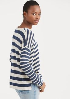 Ralph Lauren Striped Linen-Blend Sweater