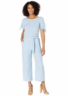 Ralph Lauren Striped Linen Jumpsuit