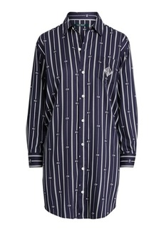 Ralph Lauren Striped Logo Sleep Shirt