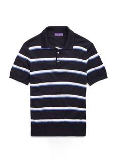 Ralph Lauren Striped Merino Polo Sweater