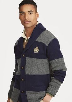 Ralph Lauren Striped Merino Wool Cardigan