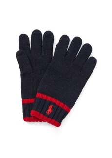 Ralph Lauren Striped Merino Wool Gloves