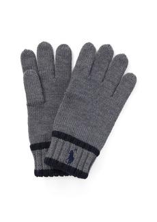 Ralph Lauren Striped Merino Wool Gloves