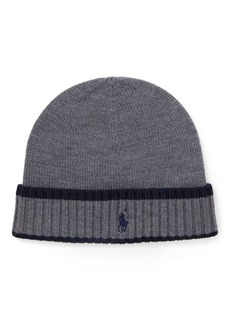 Ralph Lauren Striped Merino Wool Hat