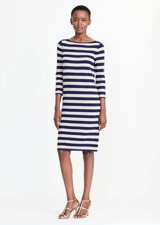 Striped Metallic Sweater Dress