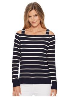 Ralph Lauren Striped Off the Shoulder Top
