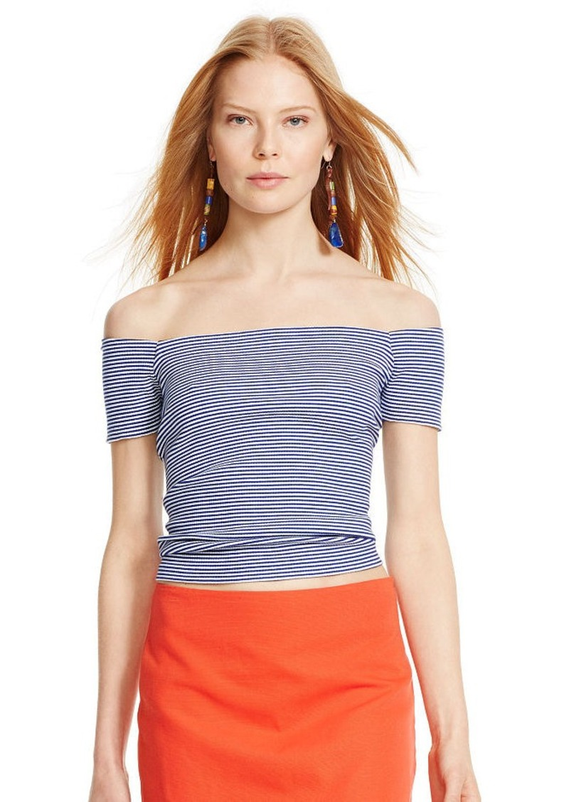 Ralph Lauren Striped Off-the-Shoulder Top
