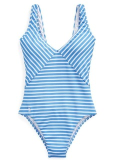 Ralph Lauren Striped One-Piece Swimsuit