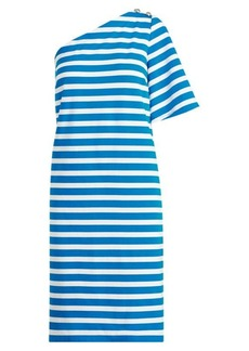 Ralph Lauren Striped One-Shoulder Dress