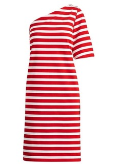 Ralph Lauren Striped One-Shoulder Dress