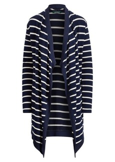 Ralph Lauren Striped Open-Front Cardigan