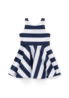 Ralph Lauren Striped Ponte Sleeveless Dress