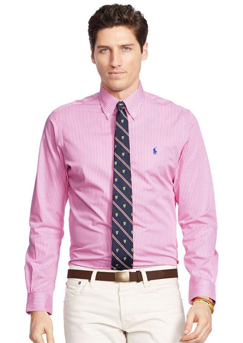 Ralph Lauren Striped Poplin Sport Shirt