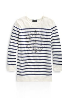 Ralph Lauren Striped Ribbed Cotton T-Shirt