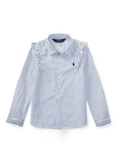 Ralph Lauren Striped Ruffled Cotton Popover