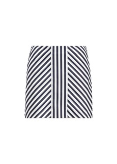 Striped Sateen Skort