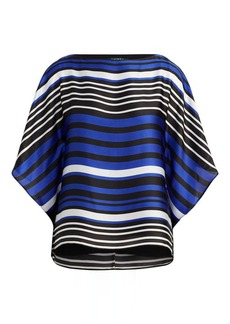 Ralph Lauren Striped Satin Dolman Top