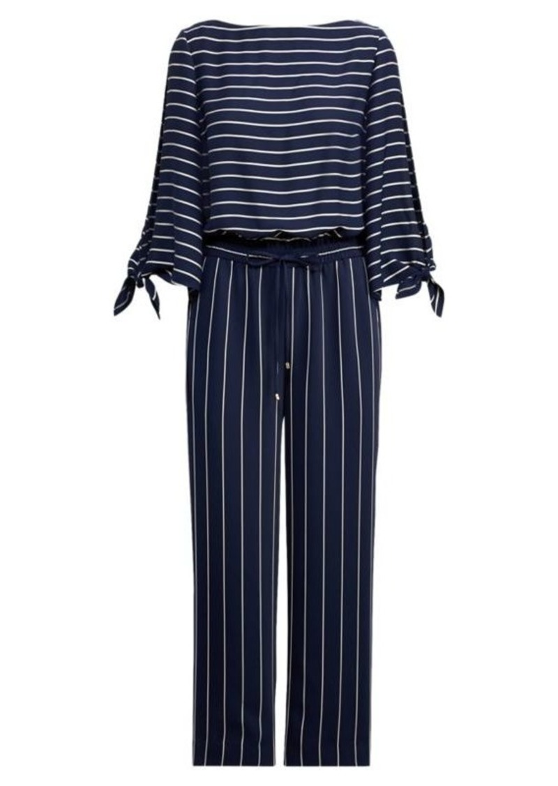 Ralph Lauren Striped Satin Jumpsuit