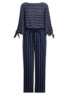 Ralph Lauren Striped Satin Jumpsuit