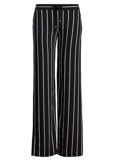 Ralph Lauren Striped Satin Wide-Leg Pant