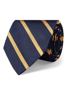 Ralph Lauren Striped Silk Repp Narrow Tie