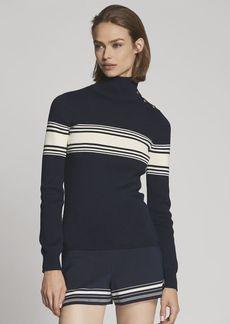 Striped Silk Short