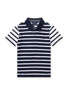 Ralph Lauren Striped Slub Cotton Polo Shirt