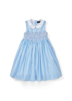 Ralph Lauren Striped Smocked Cotton Dress