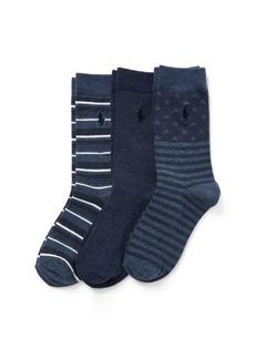 Ralph Lauren Striped Sock 3-Pack