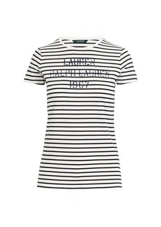 Ralph Lauren Striped Stencil-Logo T-Shirt