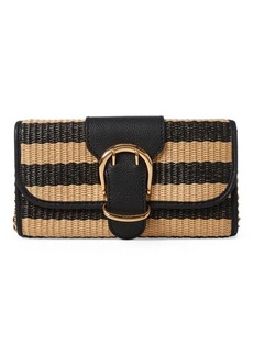 Ralph Lauren Striped Straw Clutch