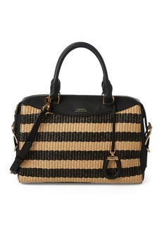 Ralph Lauren Striped Straw Satchel