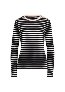 Ralph Lauren Striped Stretch Cotton Top