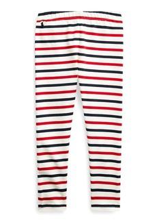 Ralph Lauren Striped Stretch Jersey Legging