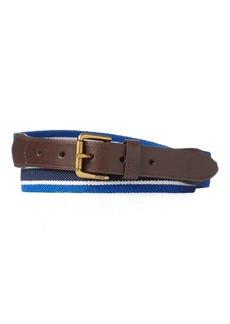 Ralph Lauren Striped Stretch Twill Belt