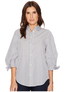 Ralph Lauren Striped Tie-Sleeve Cotton Shirt