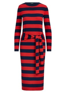Ralph Lauren Striped Tie-Waist Dress