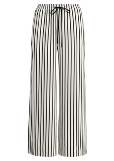 Ralph Lauren Striped Twill Wide-Leg Pant