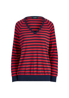 Ralph Lauren Striped V-Neck Sweater