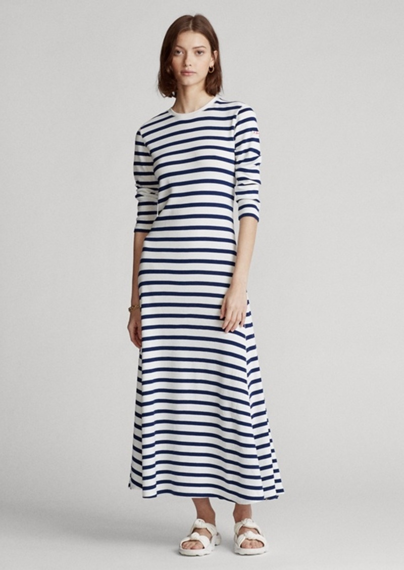 Ralph Lauren Striped Waffle-Knit Dress