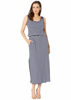 Ralph Lauren Striped Waffle-Knit Maxi Dress