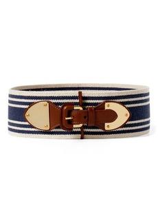 Ralph Lauren Striped Wide Stretch Belt