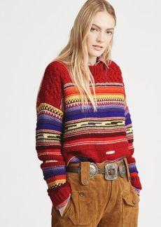 Ralph Lauren Striped Wool-Cashmere Sweater