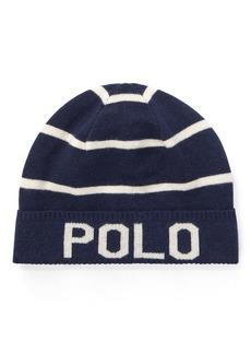 Ralph Lauren Striped Wool-Cotton Hat