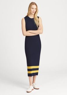 Ralph Lauren Striped Wool Sleeveless Dress
