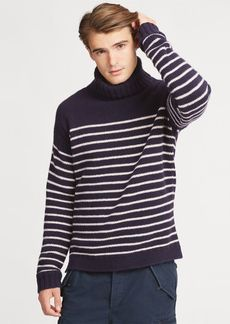 Ralph Lauren Striped Wool Turtleneck